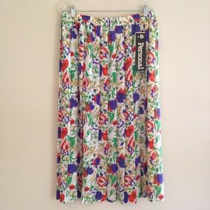NWT Vintage Plus Size Personal Floral Skirt